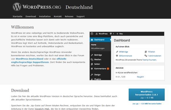 Website WordPress Deutschland
