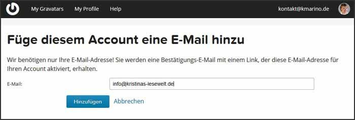 Neue E-Mail hinzufügen