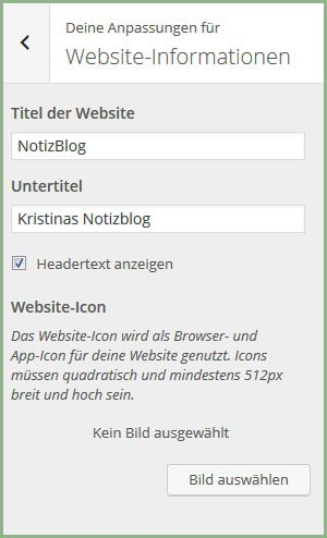 WP Website Informatiom