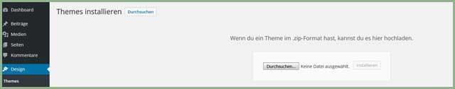 Screenshot Zip-Datei hochladen