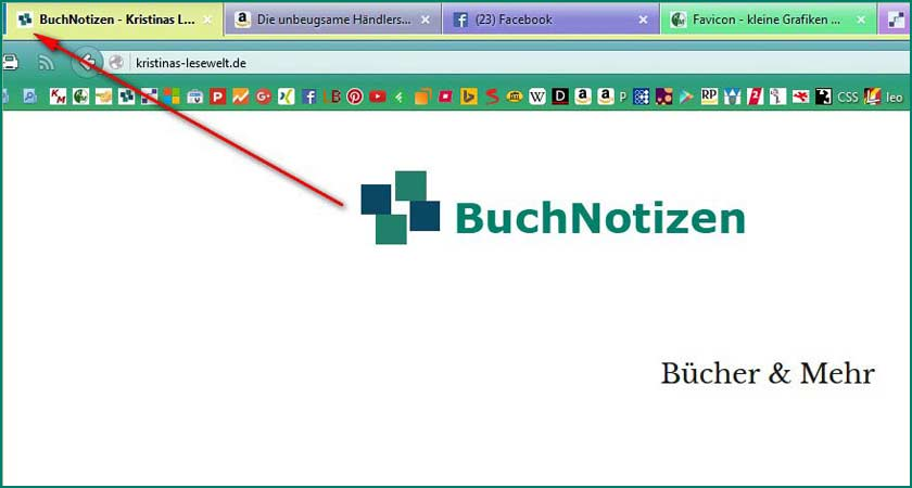 Favicon Beispiel in Firefox