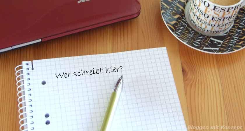 Wer schreibt hier?