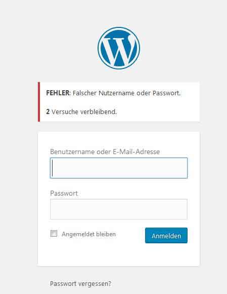 Anmeldemaske WordPress
