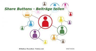 Share Buttons - erhöhe die Reichweite Deines Blogs