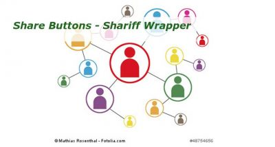 Share Buttons - Plugin Shariff Wrapper installieren