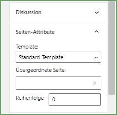 Seiten Editor - Hierarchie