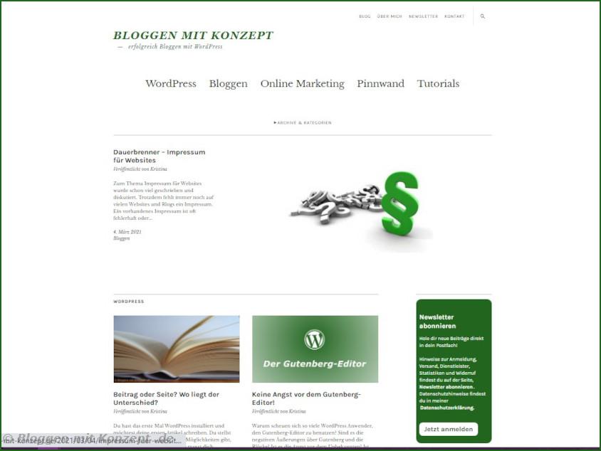Starseite Bloggen mit Konzept
